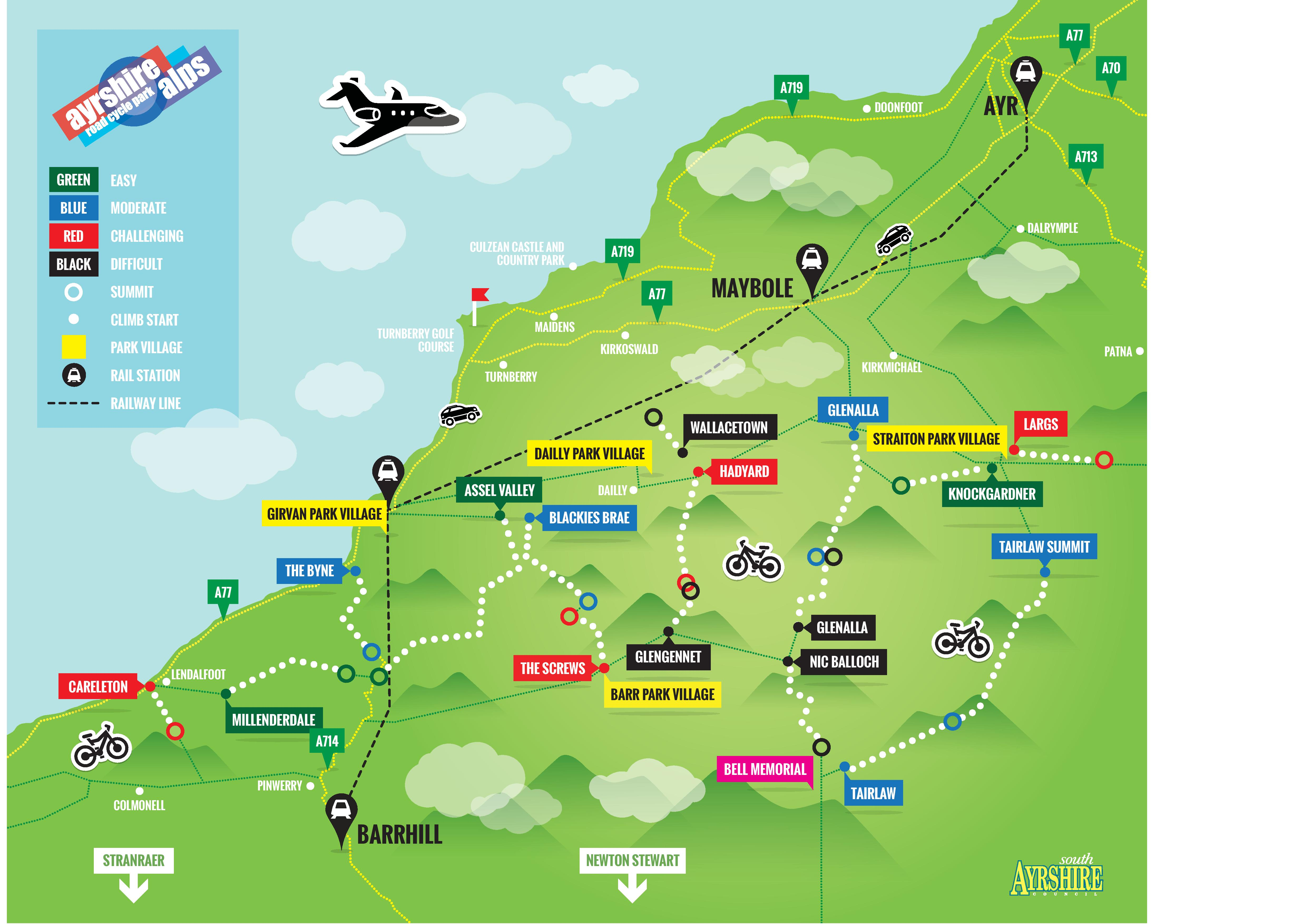 Piste Map | Ayrshire Alps